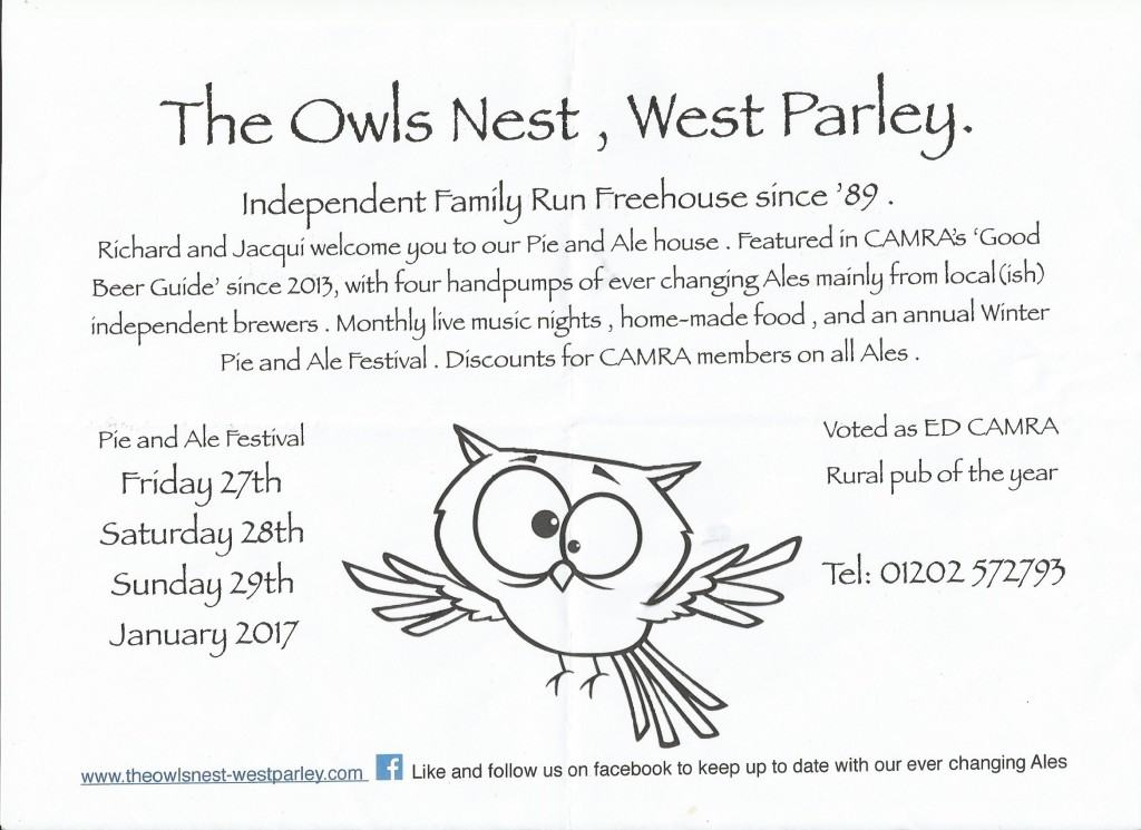 Owls Nest Beer Festival 2017