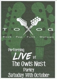 Owls Nest Live Music October 2017 Totog
