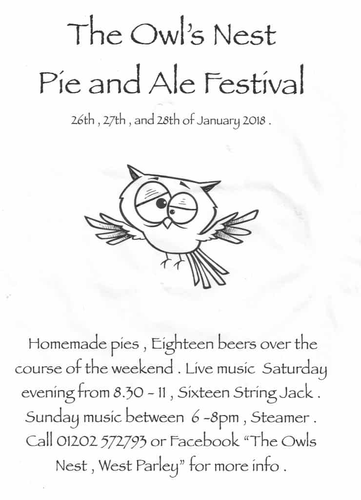 Owls Nest West Parley Beer Festival 2018