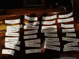 Owls Nest World Cup 18 Sweep draw